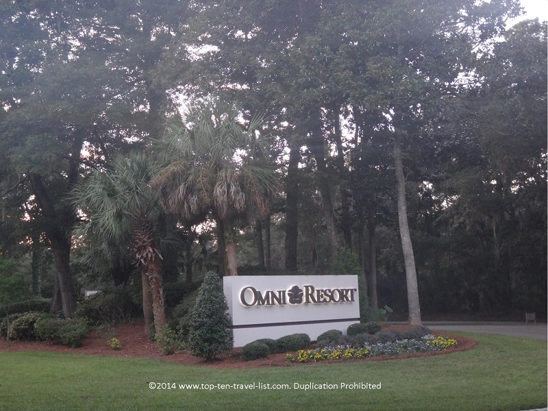 Omni Hilton Head Oceanfront resort sign