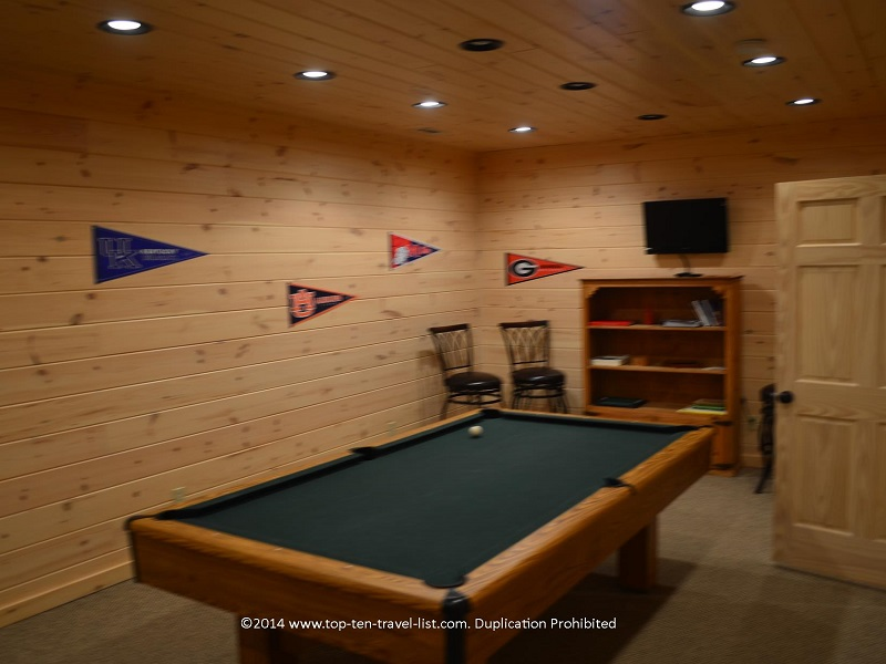 Pool table - Appalachian Promise - Mount Laurel Cabin Rentals - Blue Ridge, Georgia