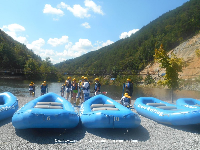 Whitewater rafting through the beautiful Appalachian mountains - Ocoee River