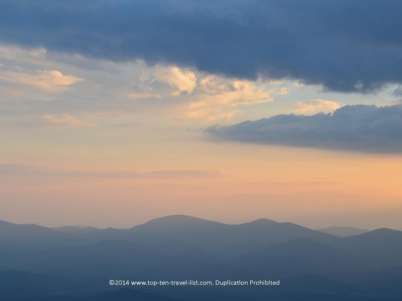 Amazing sunset at the highest point in Georgia - Brasstown Bald