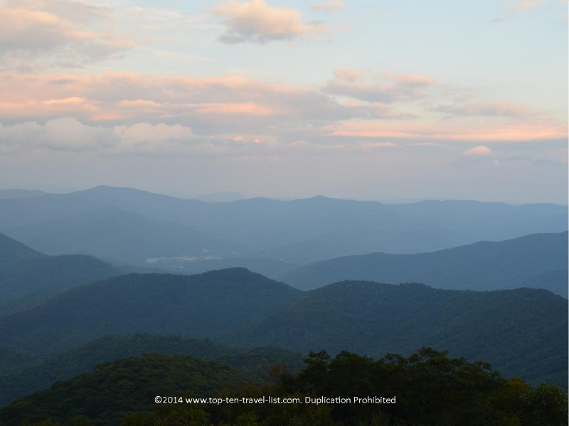 Beautiful views of the southern Appalachians from Brasstown Bald - the highest point in Georgia