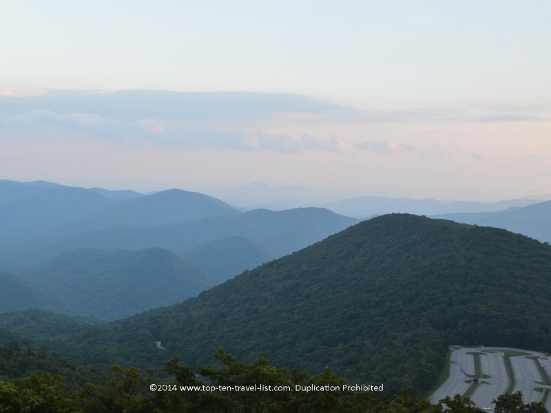 Pretty sunset views at Brasstown Bald in Northern Georgia