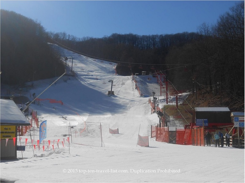 Skiing hill at Ober Gatinburg - Smoky Mountains