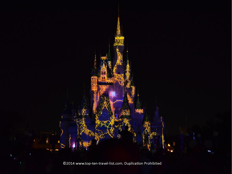 Sleeping Beauty projection the Magic Kingdom castle