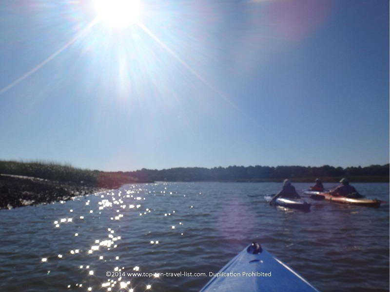 A sunny, cool day kayaking Hilton Head
