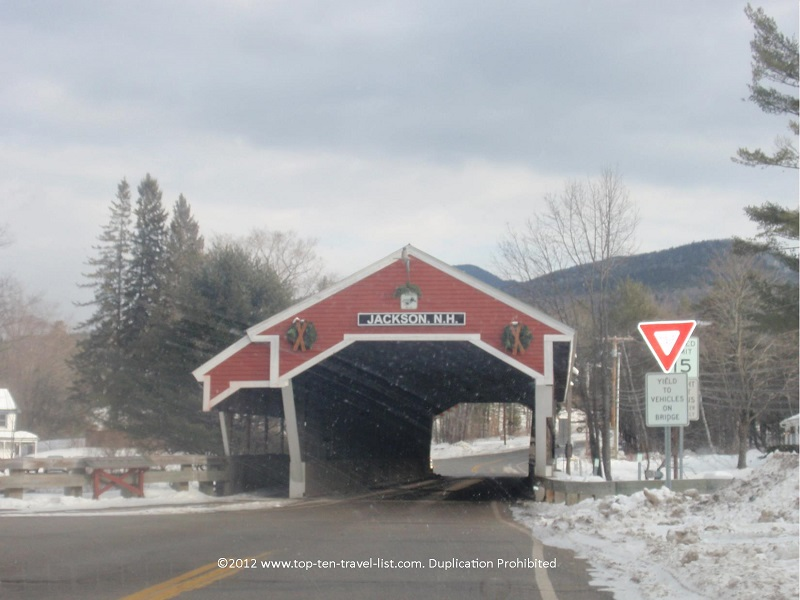 Covered bridge in Jackson, New Hampshire