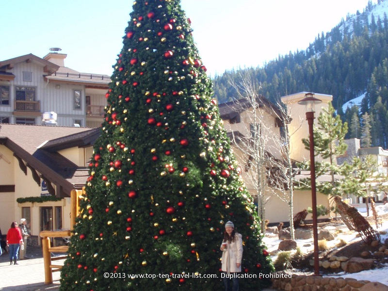 Christmas tree at Squaw Valley in Lake Tahoe