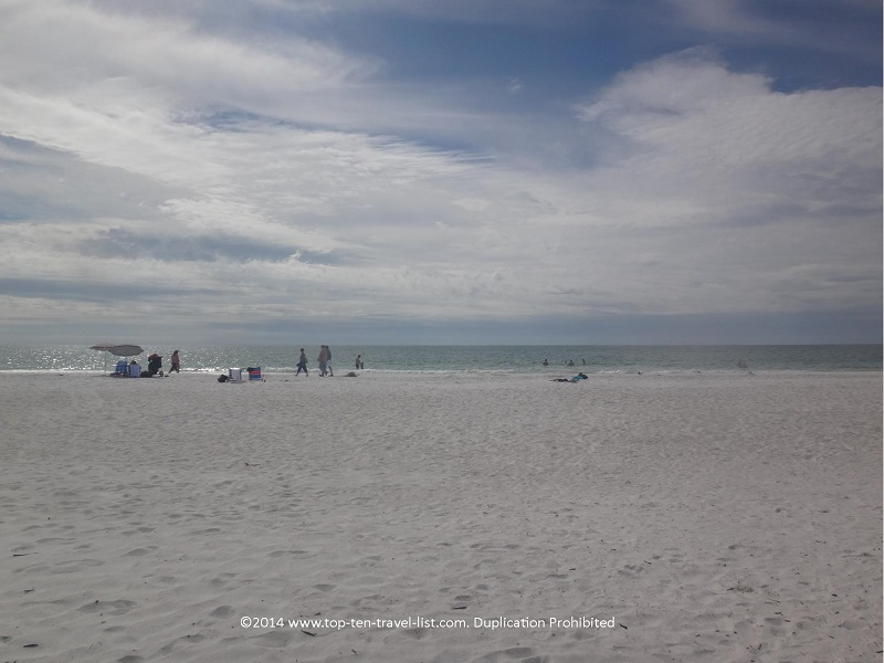 Relaxing on a cool fall day in Florida - Anna Maria Island beach