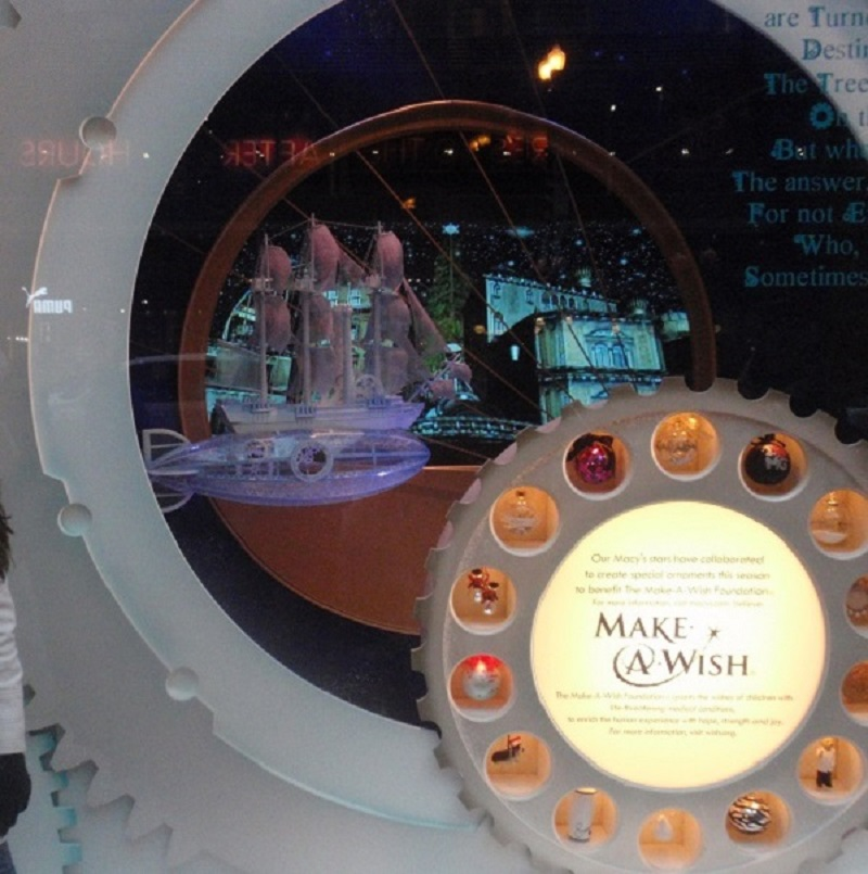Macy's holiday window displays in Chicago