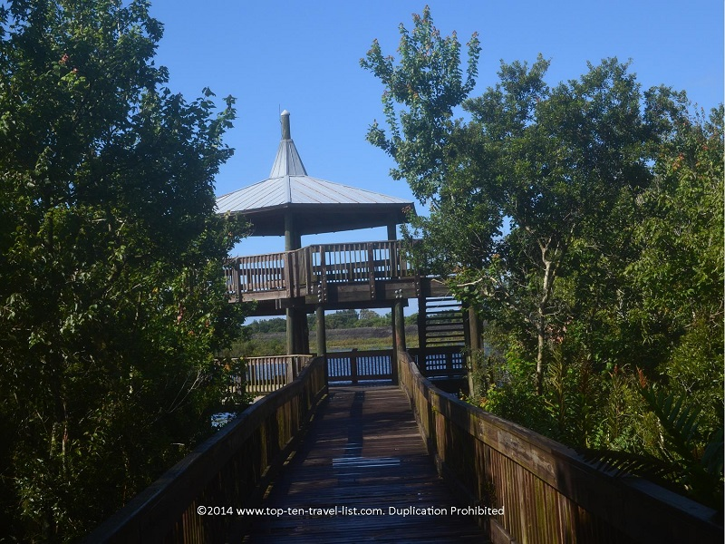 Observation tower at Sawgrass Lake Park in St. Petersburg, Florida
