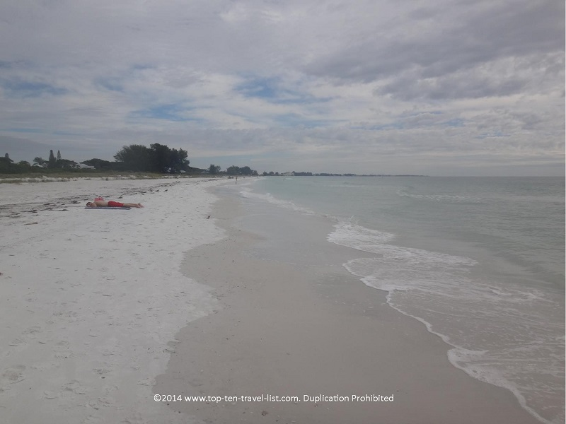 Relaxing on Anna Maria Island beach in Florida