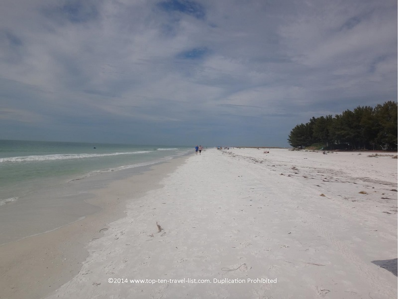 Strolling along beautiful Anna Maria Island beach in Florida