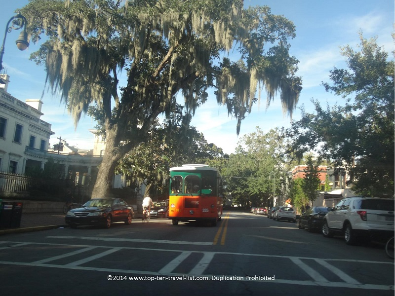 Savannah GA trolley tours