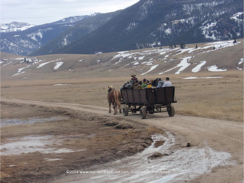 Great mountain views during the National Elk Refuge tour in Jackson Hole, Wyoming