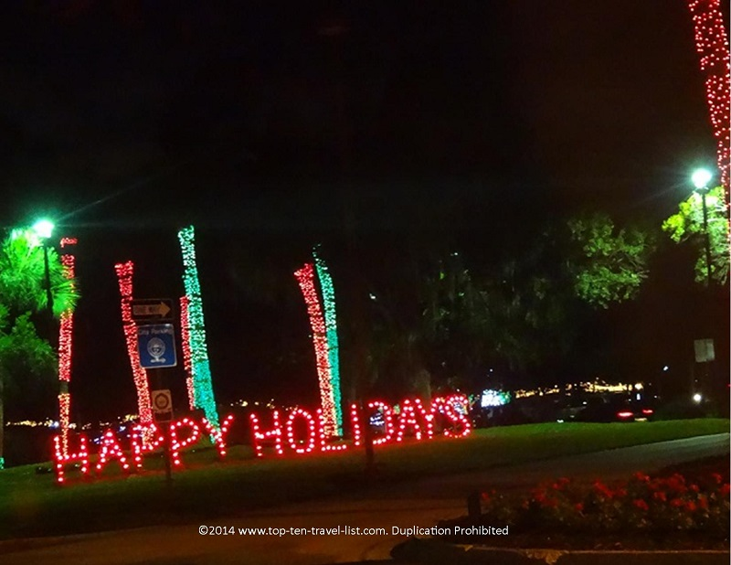 Happy Holidays sign at Largo Central Park in Florida