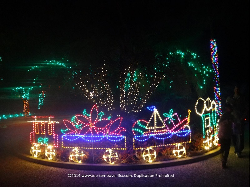 Holiday train display - Florida Botanical Gardens - Holiday Lights 2014
