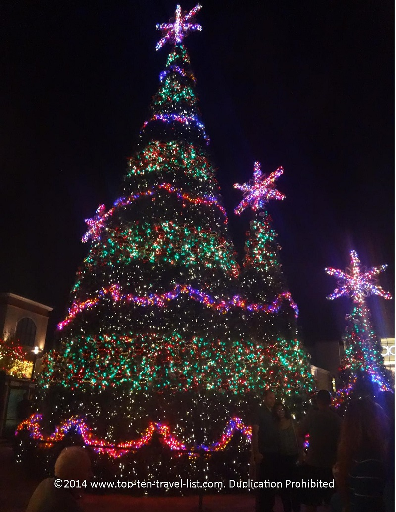 The beautiful Christmas Tree at The Shops of Wiregrass in Wesley Chapel, Florida
