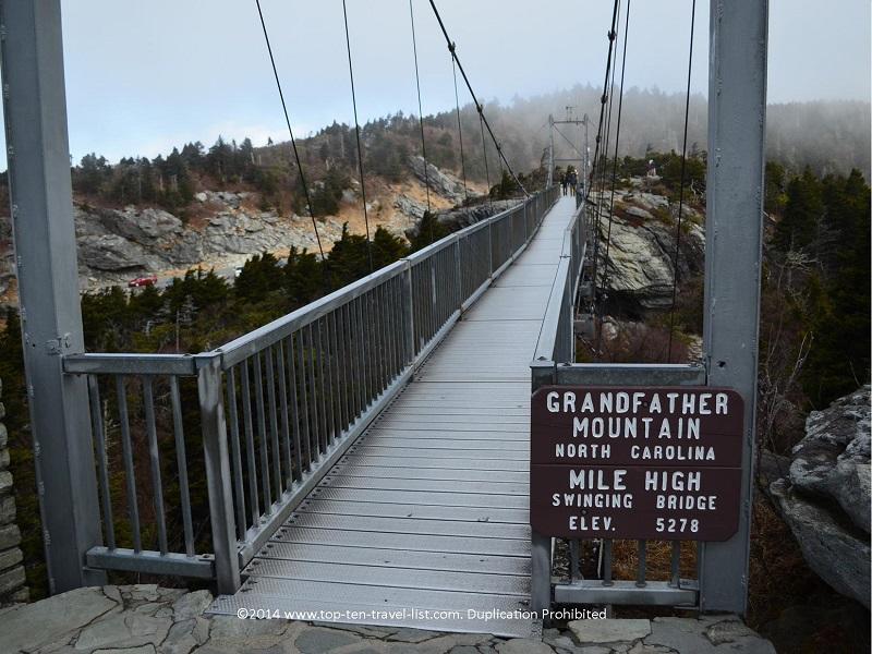 The 5278 foot elevation, mile high bridge