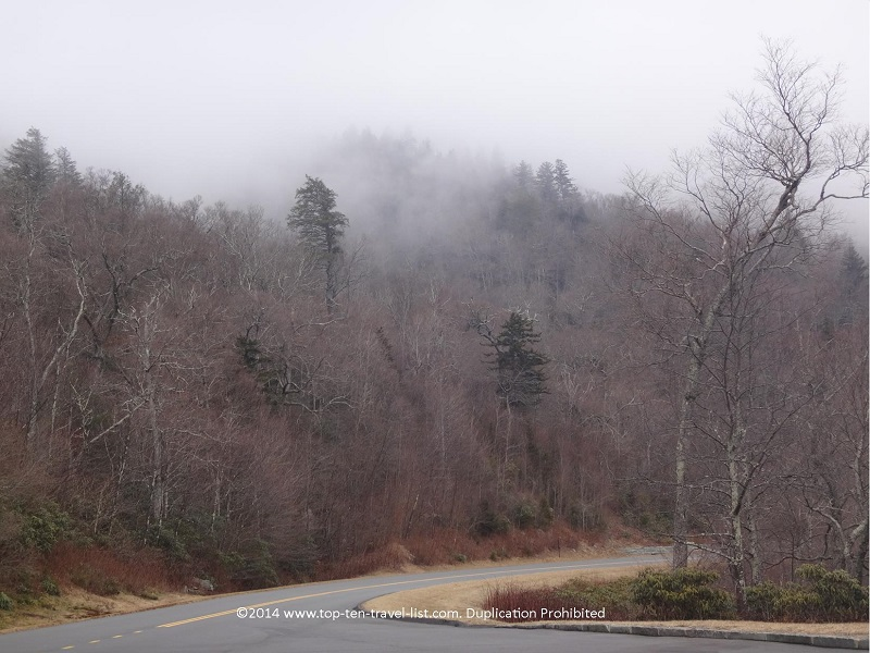 Pretty mountain views on the Blue Ridge Parkway in North Carolina