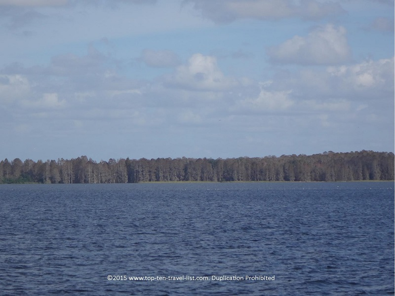 Scenic lake views along Alligator Alley - at Circle B Bar Reserve in Lakeland, Florida