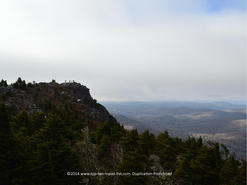 Gorgeous scenery at Grandfather Mountain in North Carolina
