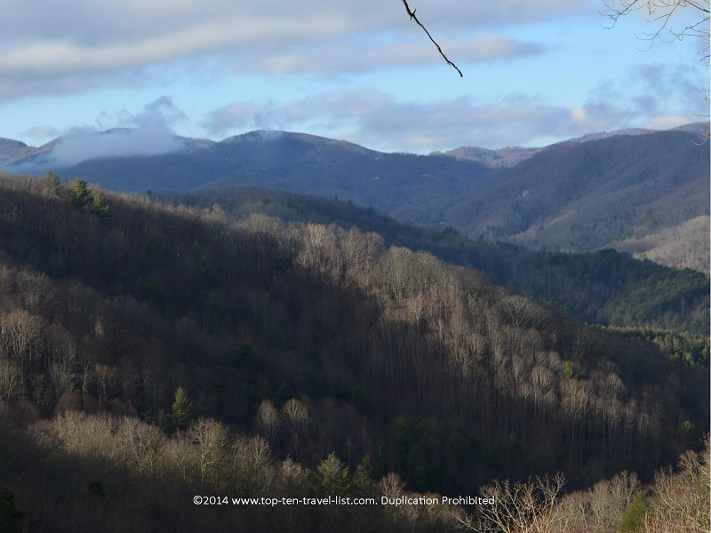 Views of the mountains from Lazy Bear Lodge in Western North Carolina