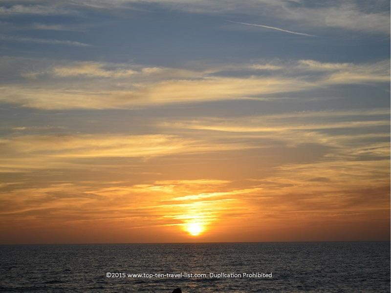 Sunset at Venice Beach in Venice, Florida