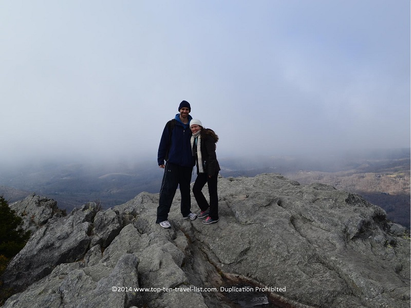 Be sure to take your picture at the top of Grandfather Mountain - the setting is spectacular!