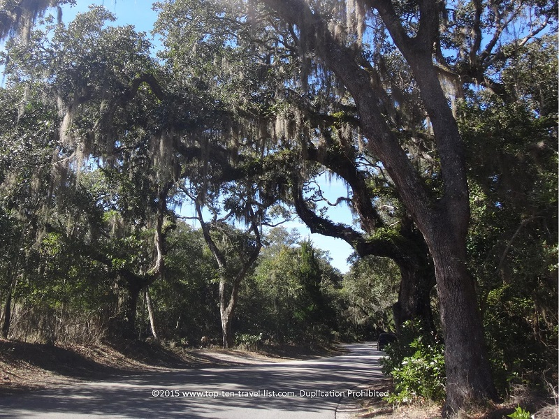 Bike loop around Fort Clinch State Park - Amelia Island, Florida