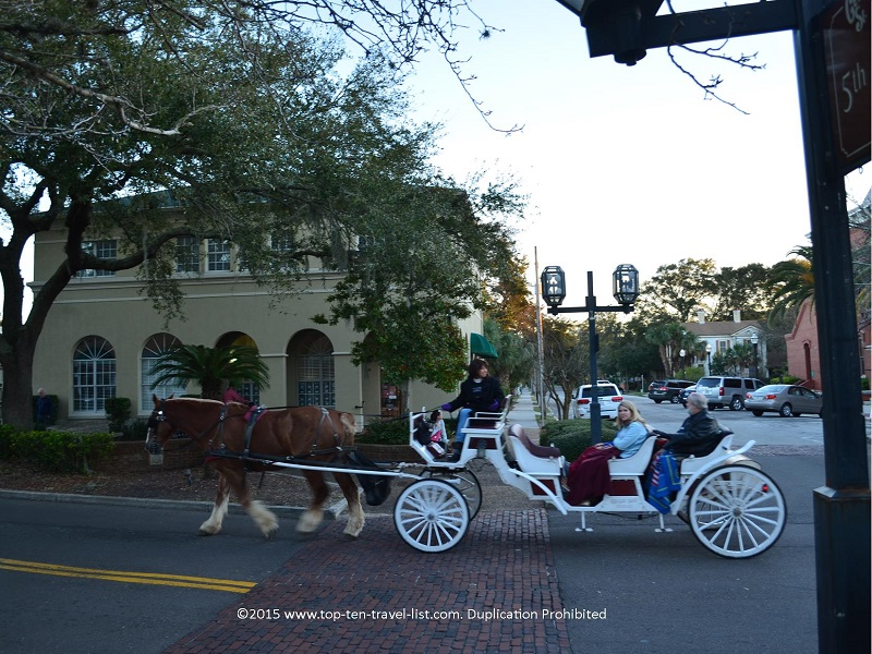A carriage ride through Fernandina's quaint downtown area is the perfect activity to add to your itinerary.