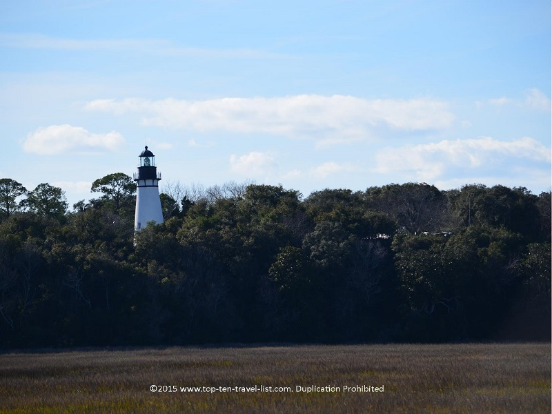 Views of the Amelia Island lighthouse from Ft. Clinch State Park