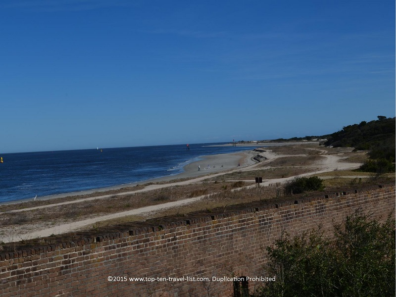 View of the beach from Fort Clinch - Amelia Island, Florida