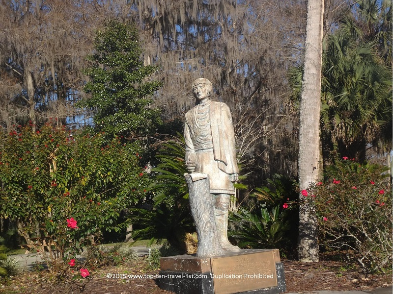 A statue of Chief Osceola, a Seminole Indian Chief of the early 1800's.