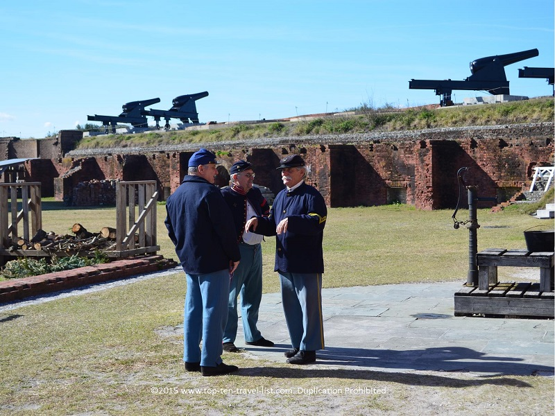 Reenactments at Fort Clinch - Amelia Island, Florida