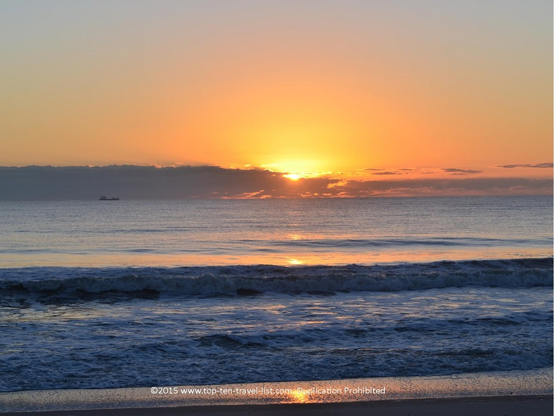 A beautiful sunrise in Amelia Island, Florida