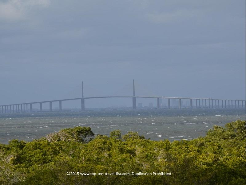 The Sunshine Skyway Bridge as seen from Robinson Nature Preserve in Bradenton.