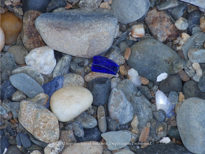 The island is a great place for finding old pieces of SeaGlass, especially the coveted cobalt blue pieces from old Milk of Magnesia bottles.