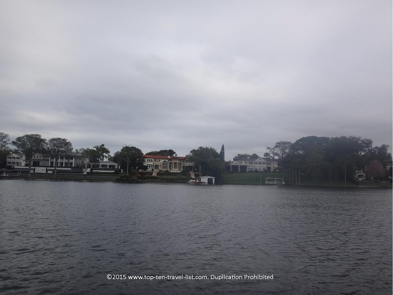 Beautiful homes as seen from the Scenic Boat tour.
