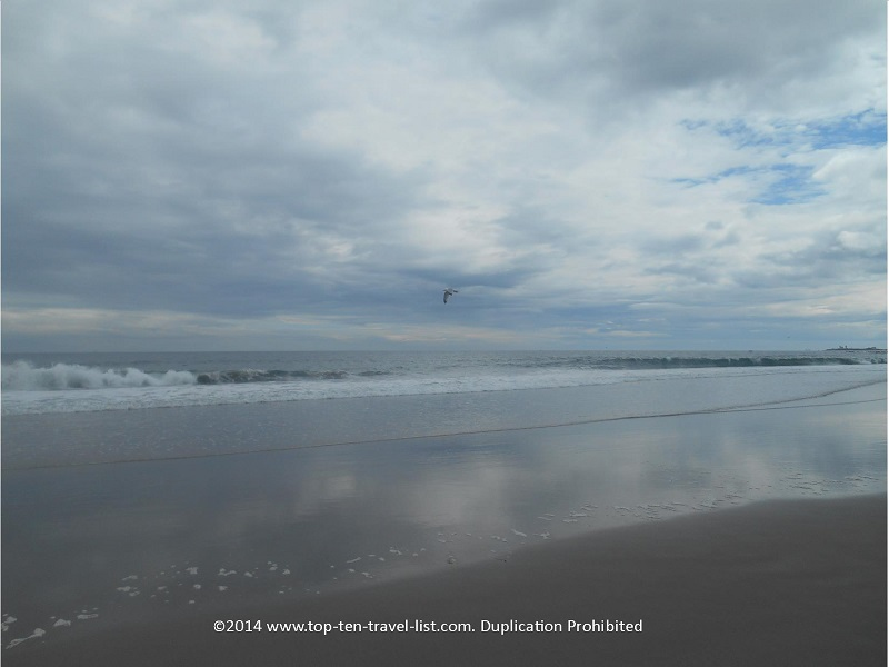 A beautiful, overcast spring day at Narragansett's Scarborough Town Beach.