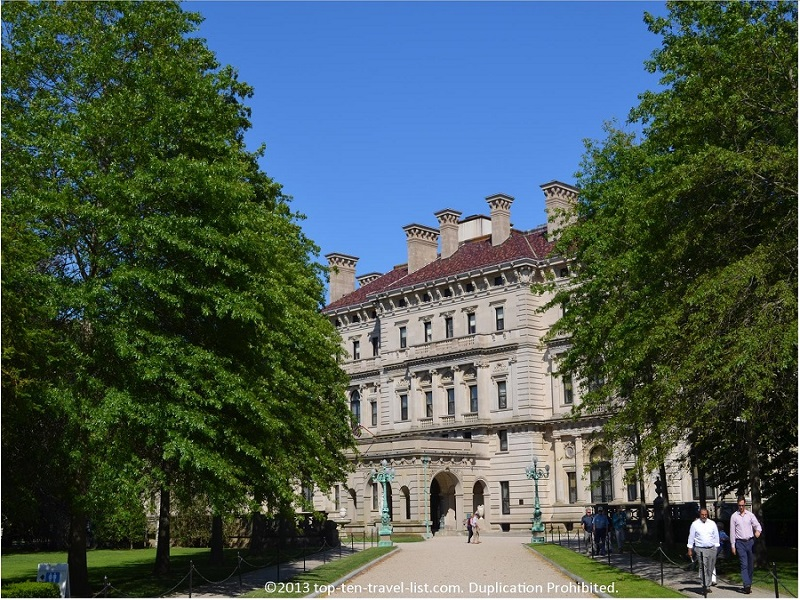 The Breakers, the largest of the extravagant Newport Mansions.