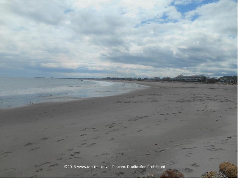Beautiful wide & sandy Scarborough Town Beach in Narragansett.