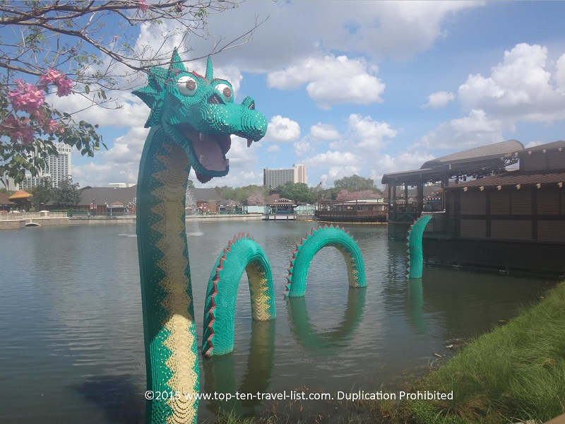 Lego dinosuar at Downtown Disney - Orlando, Florida