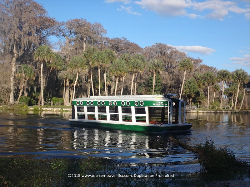 Glass bottom boat rides at Silver Springs State Park in Ocala, Florida