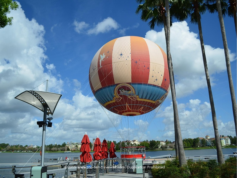 Characters in Flight hot air balloon ride at Downtown Disney in Orlando Florida