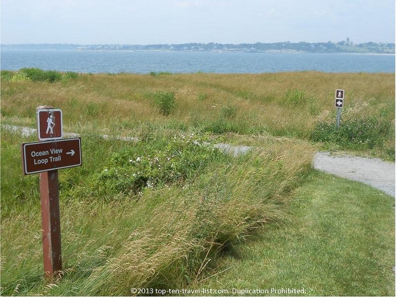 The Ocean View Loop at Sachuest Point Wildlife Refuge.