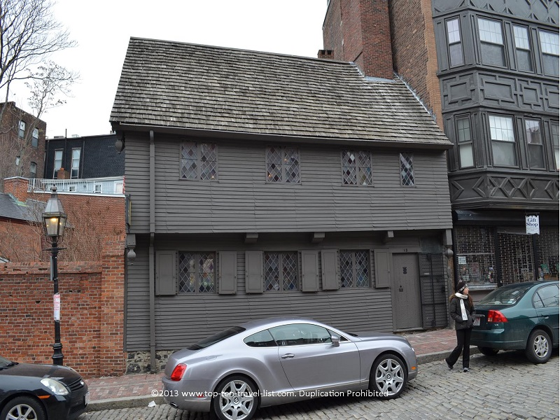 The Paul Revere house, built back in 1680, is the oldest remaining structure in the city.