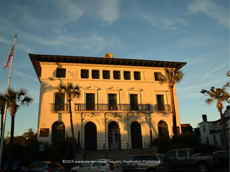 Fernandina Beach's historic post office building was completed in 1912.