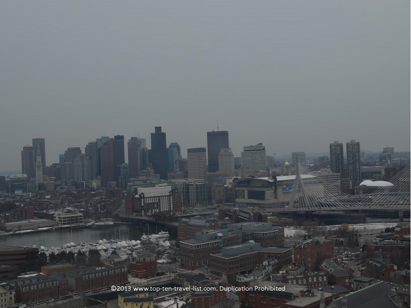 The views of Boston from the top of the Bunker Hill monument are nothing short of amazing!