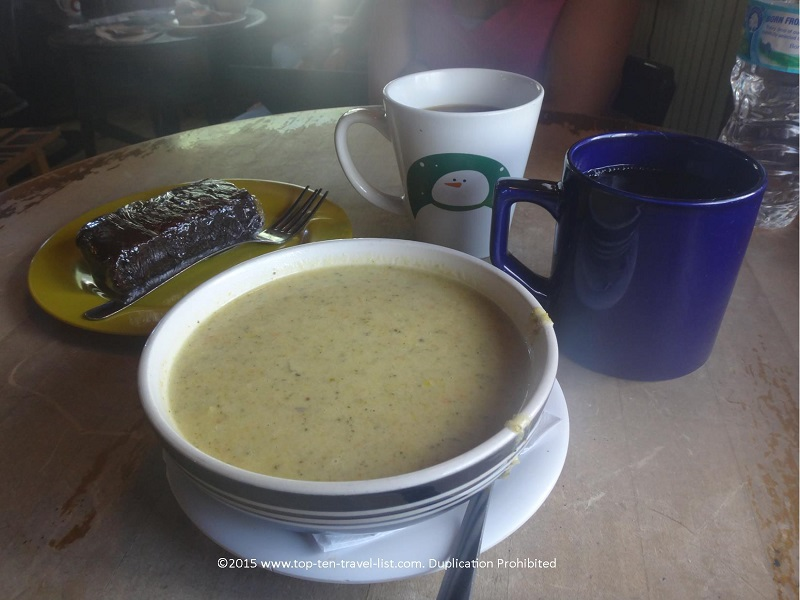 Drunken Monkey's Broccoli Cheez soup might just be the best you will ever taste!