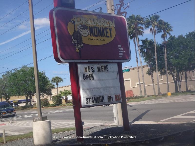 Drunken Monkey Coffee Bar in Orlando, Florida